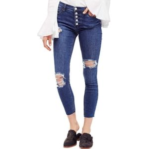 Free People High Waisted Button Fly Skinny size 29